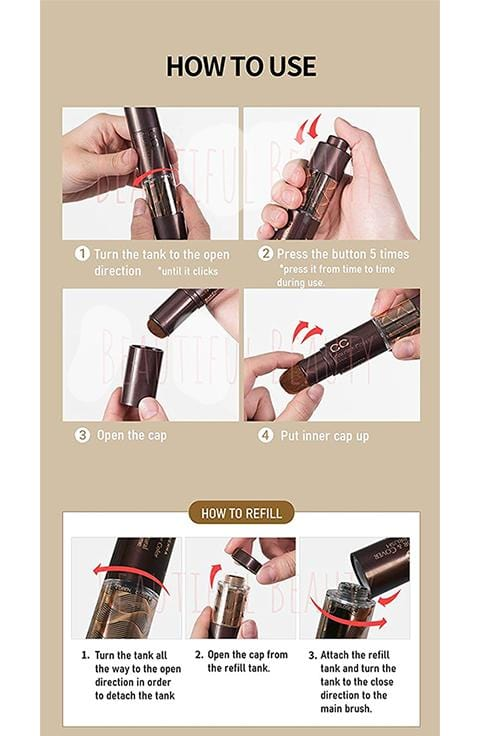 RICHENNA CC Color & Cover Hair Brush Type ,Refill