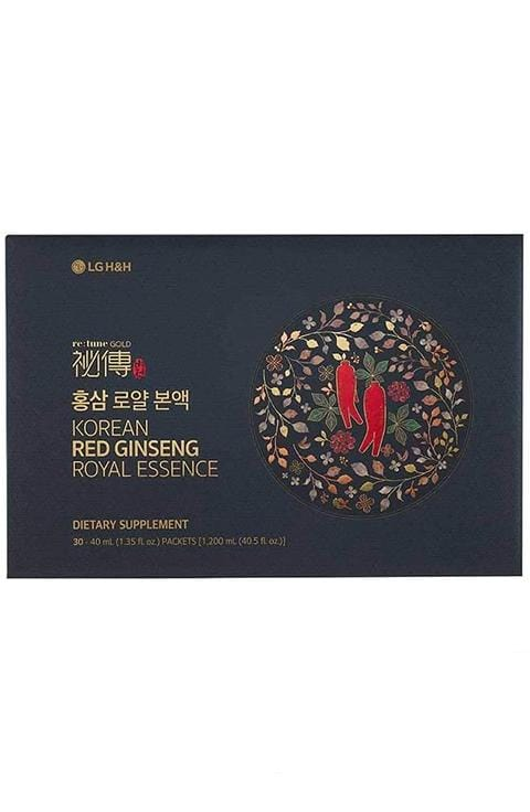 LG H&H re:tune Gold Vision Red Ginseng Royal Essence I 100% Korean Red Ginseng Extract 30Packets