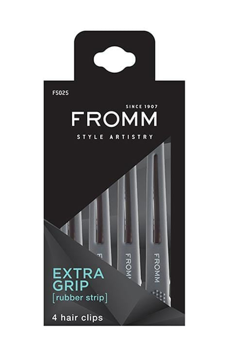 Fromm Style Artistry Rubberized Grip Clips, 4 Pack