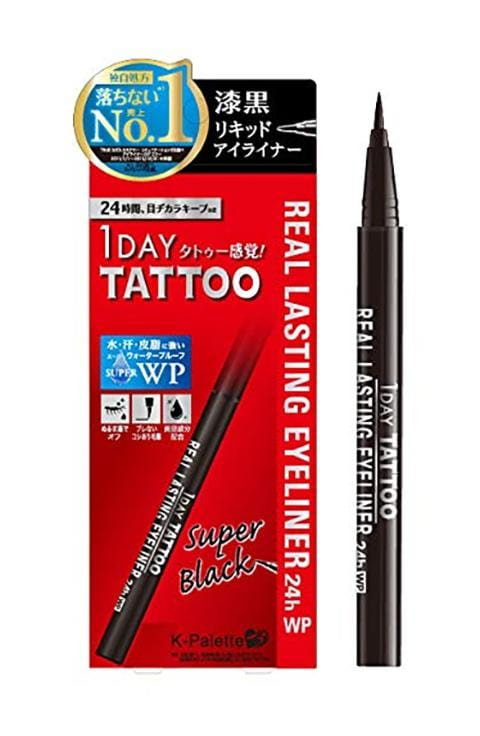 K-Palette - 1 Day Tattoo Real Lasting Eyeliner 24H WP - 2 Types