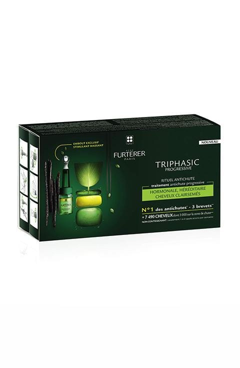 Rene Furterer TRIPHASIC Progressive Concentrated Serum, Hereditary & Hormonal Thinning Hair, Drug Free