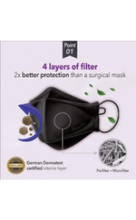 Airwasher Black Particulate Mask Black