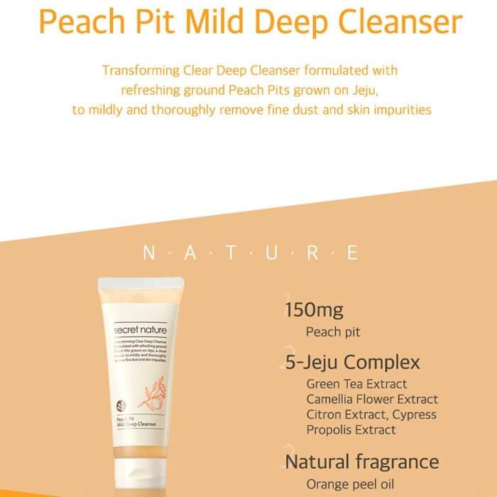 Secret Nature Peach Pit Mild Deep Cleanser