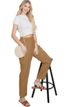 Avery Tan Textured Slacks
