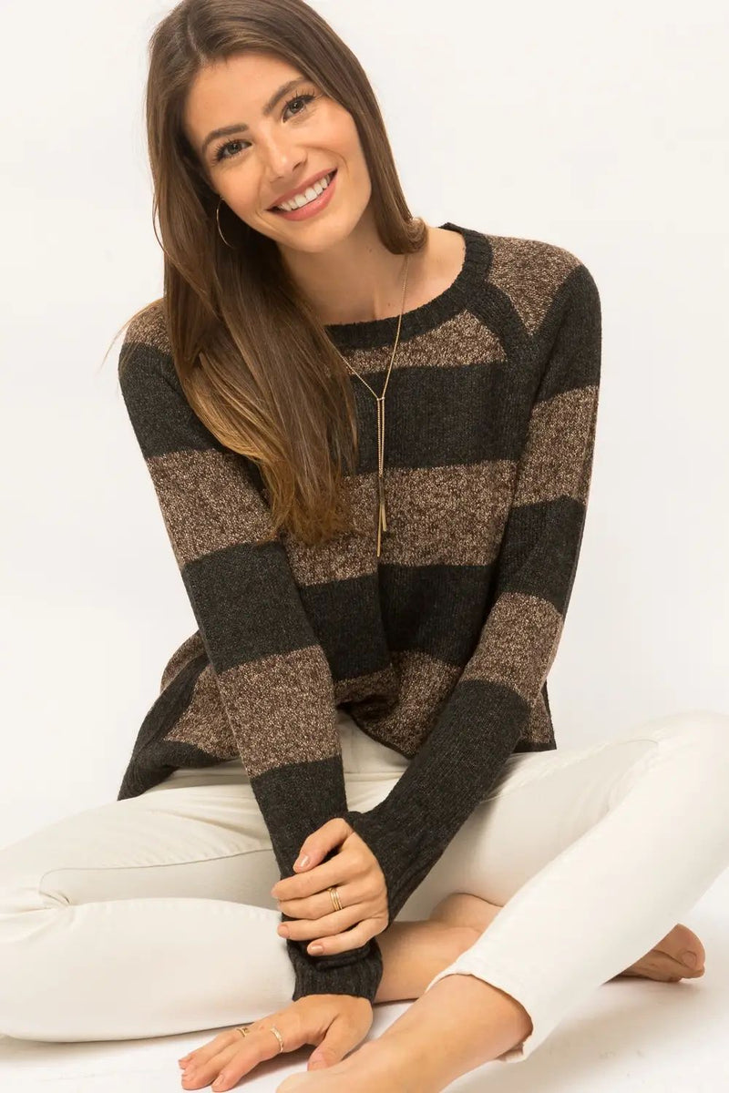 Ally Striped Pullover Sweater