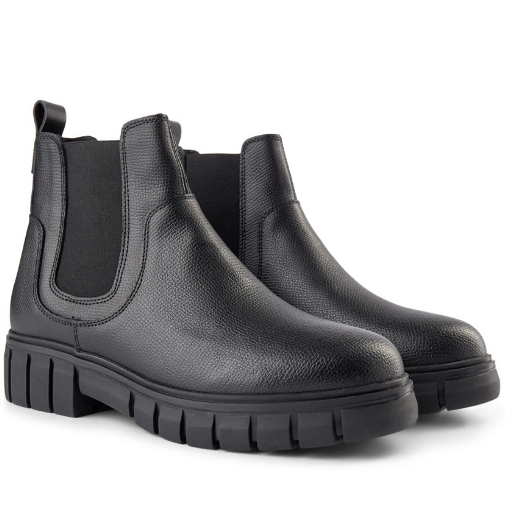 Rebel Chelsea Black Ankle Boot