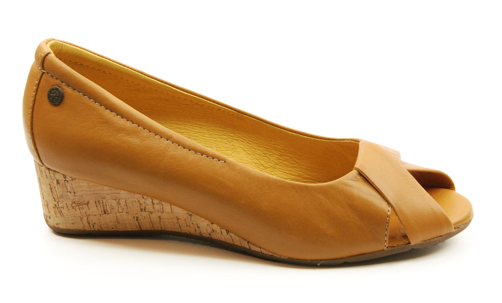 Bussola Tampere Buckskin Pump Wedge Sandal