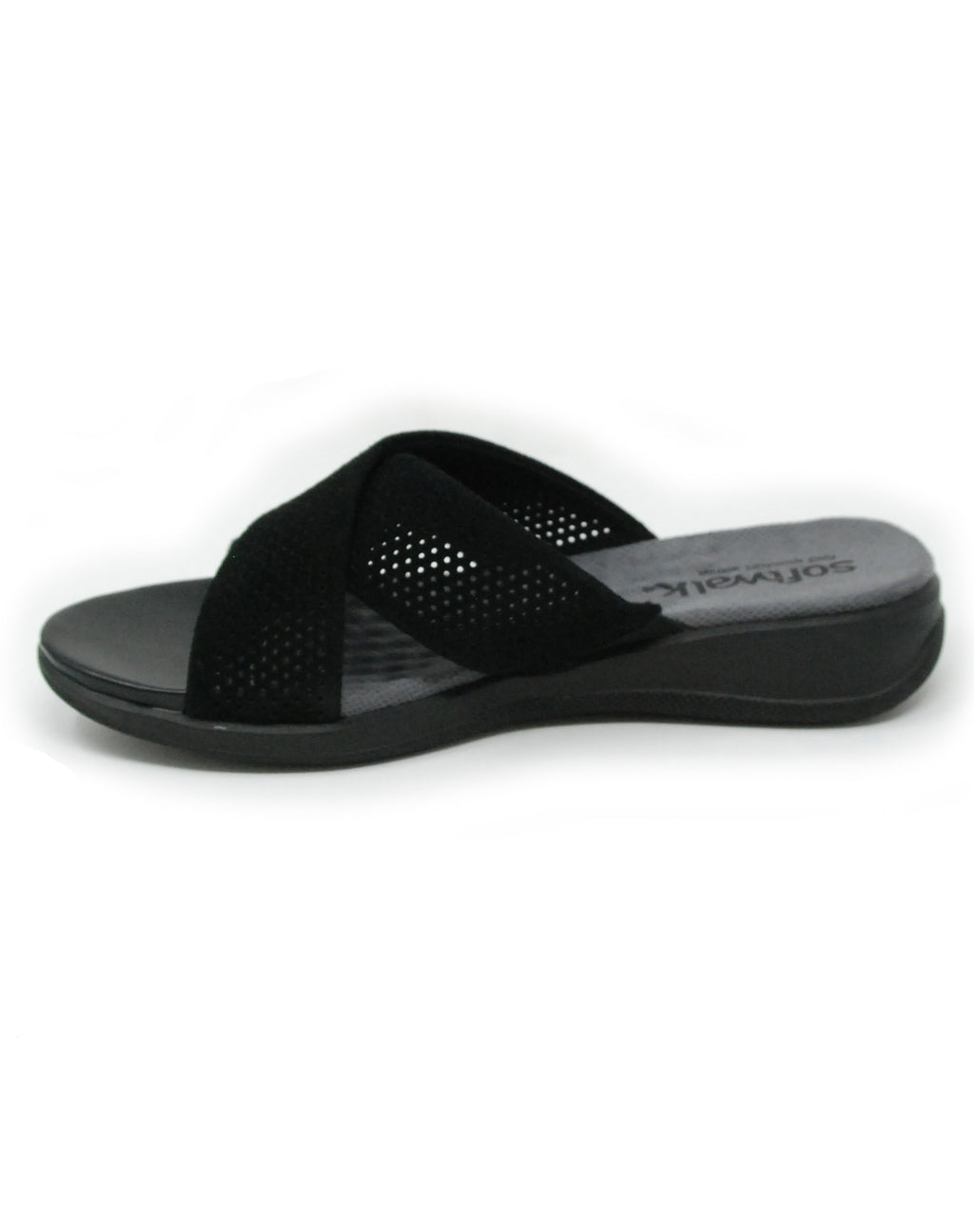 Softwalk Tillman Black Suede Sandal
