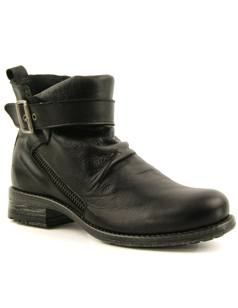 Eric Michael Tuscon Black Flat Ankle Boot