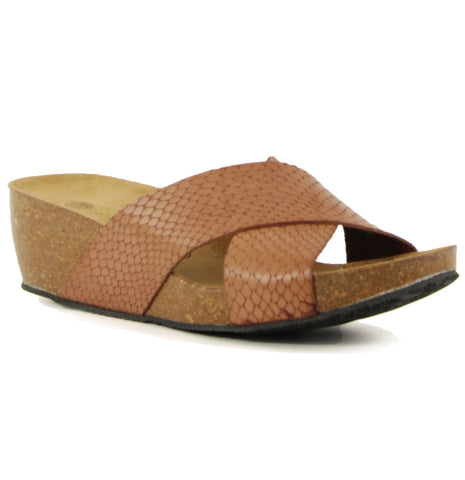 Lola Sabbia Violet Brown Wedge Sandal