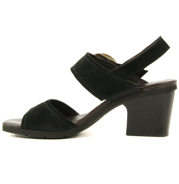 Hispanitas Ultimate Black Heeled Sandal