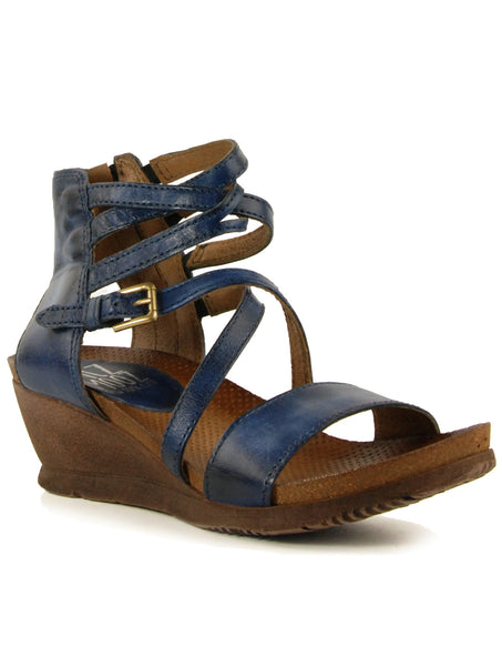 Miz Mooz Shay Navy Wedge Sandal
