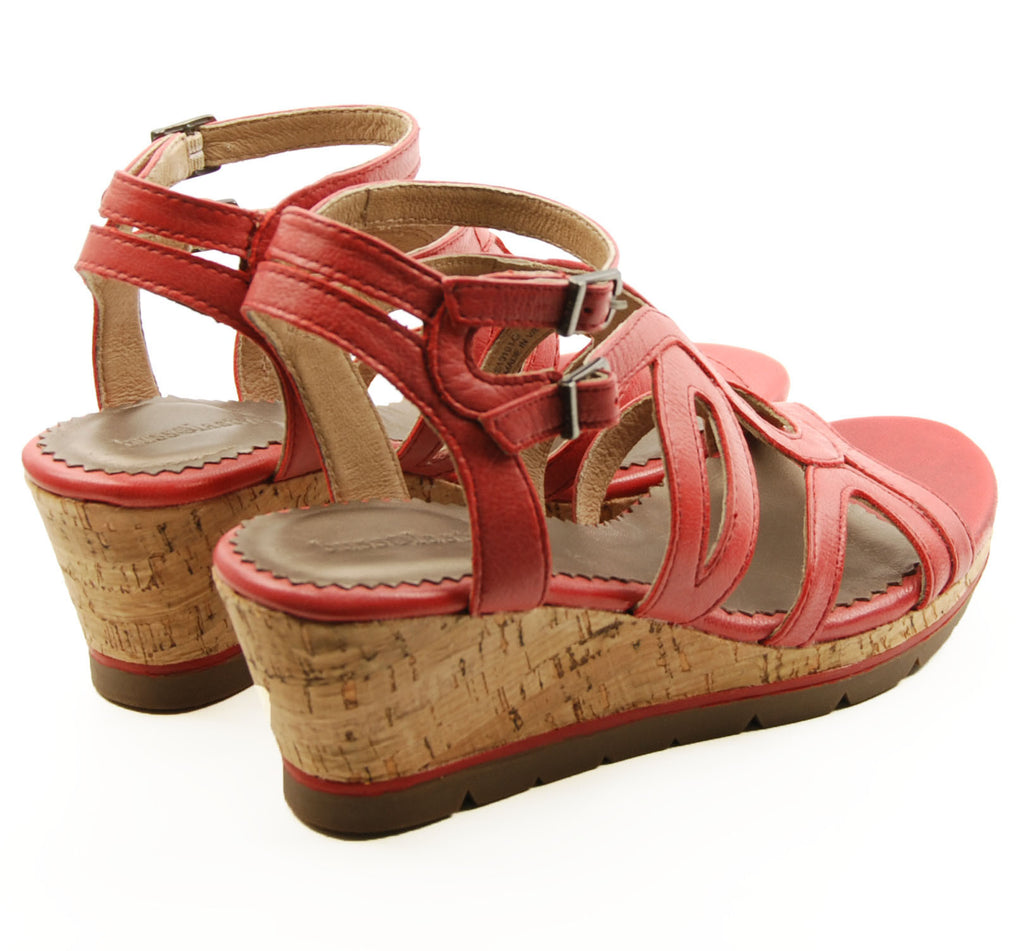 Bussola St Tropez Red Wedge Sandal