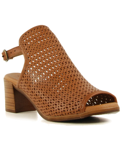 Eric Michael Tiffany Tan Low Heeled Sandal