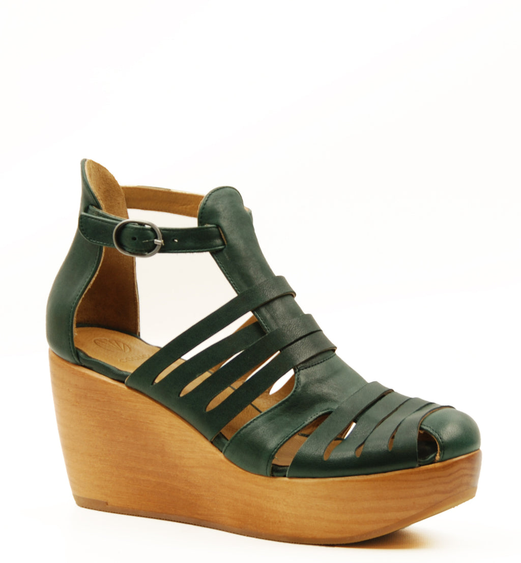 Coclico Heart Dark Green Wedge