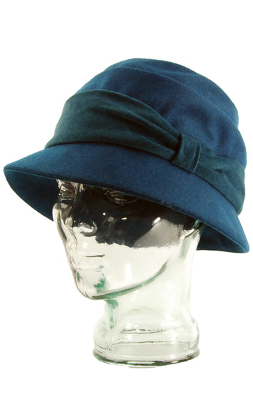 Lillie & Cohoe Wool Classic Freda Teal Hat