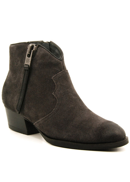 Bussola Annie Charcoal Suede Ankle Boot