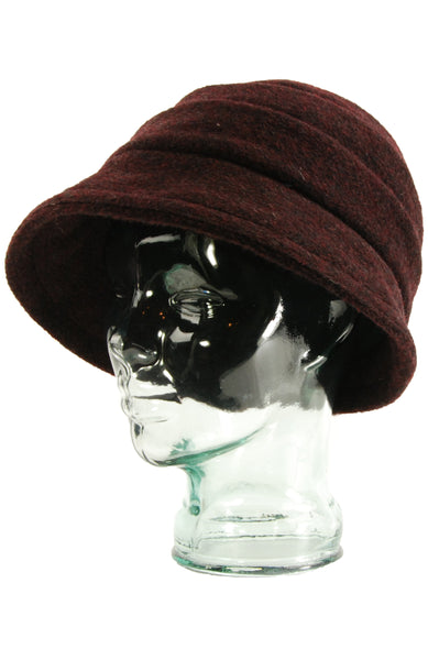Lillie & Cohoe Mohair Beatrice Wine Hat