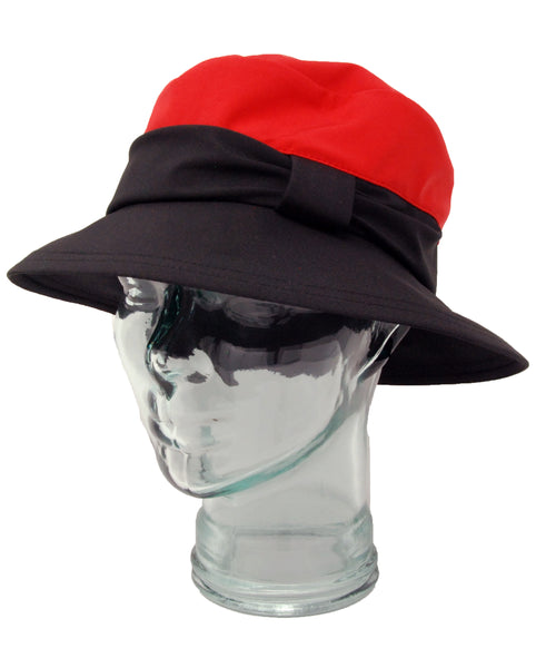 Lillie & Cohoe Rainy Day Brooke Red/Black Hat