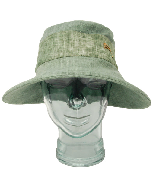 Lillie & Cohoe Tradewinds Chloe Sea Glass Linen Hat