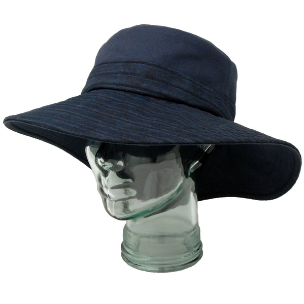 Lillie & Cohoe Indigo Isabella Navy Channel Hat
