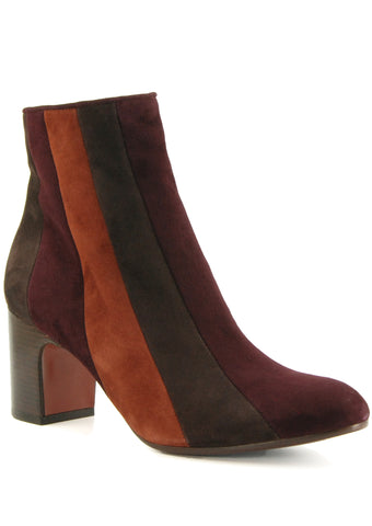 Chie Mihara Fantia Grape/Cafe/Terra Heeled Ankle Boot