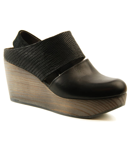 Coclico Harlen Black Platform Wedge