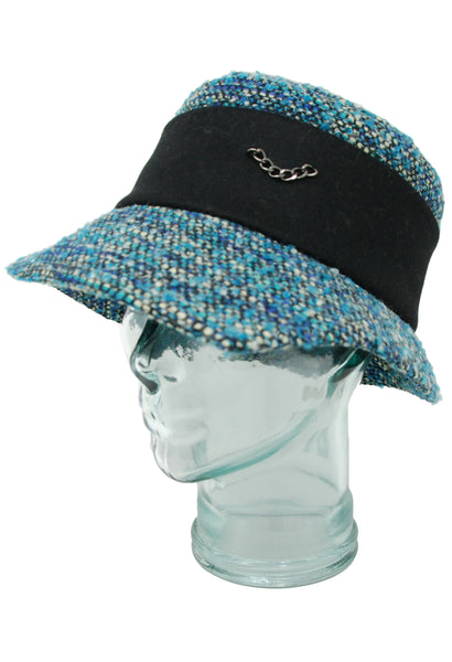 Lillie & Cohoe Winter's Night Grace Teal Tweed