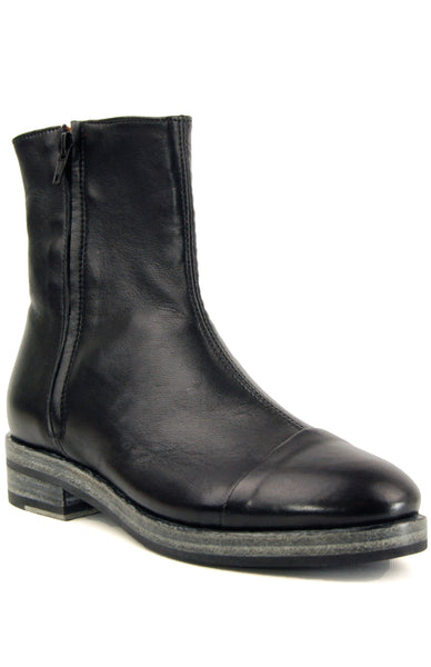 Gidigio GB282 Nappa Nero Flat Ankle Boot