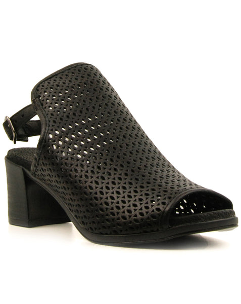 Eric Michael Tiffany Black Low Heeled Sandal