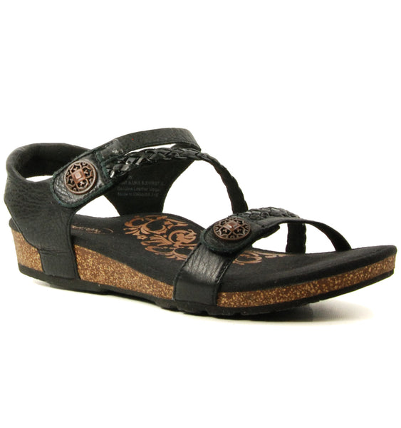 Aetrex Jillian Black Sandal