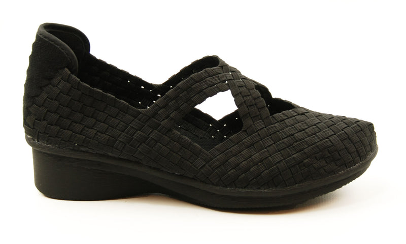 Bernie Mev Crown Black Wedge