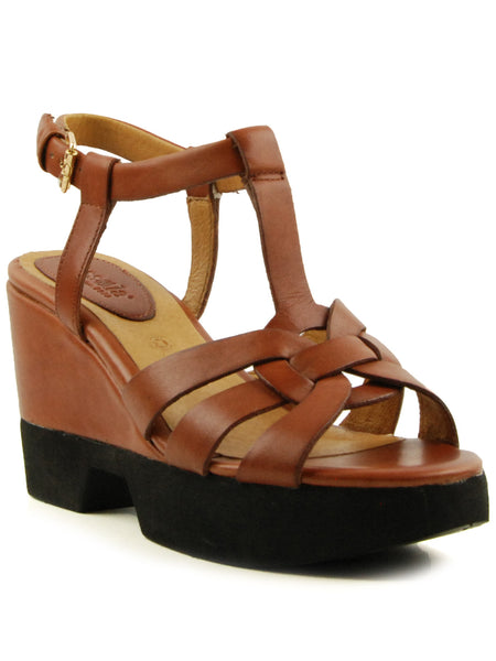 Bussola Paine Brandy Wedge Sandal