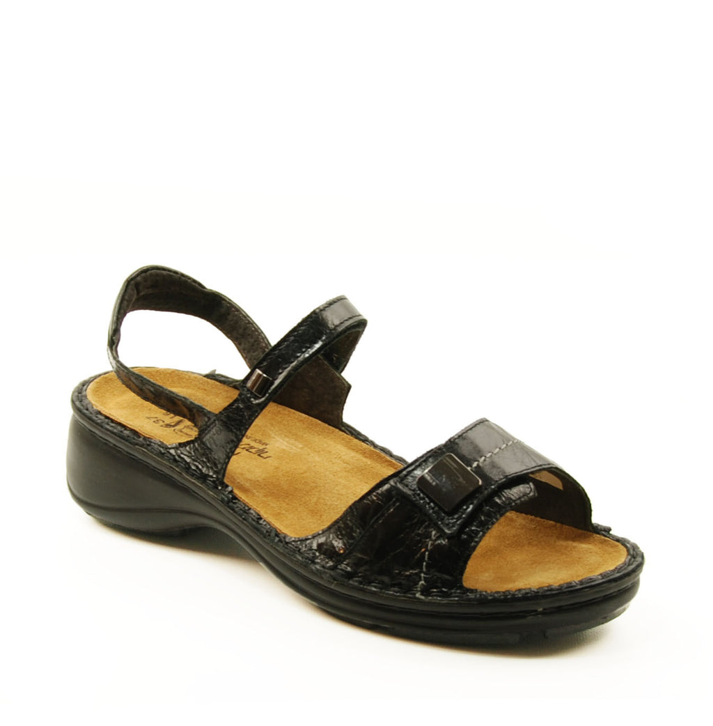 Naot Papaya Black Heeled Sandal