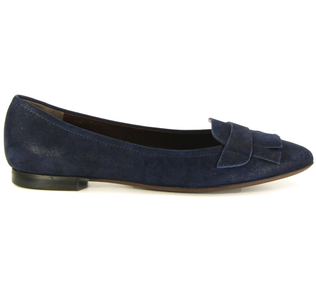 AGL D532020 Night Navy Suede Flat