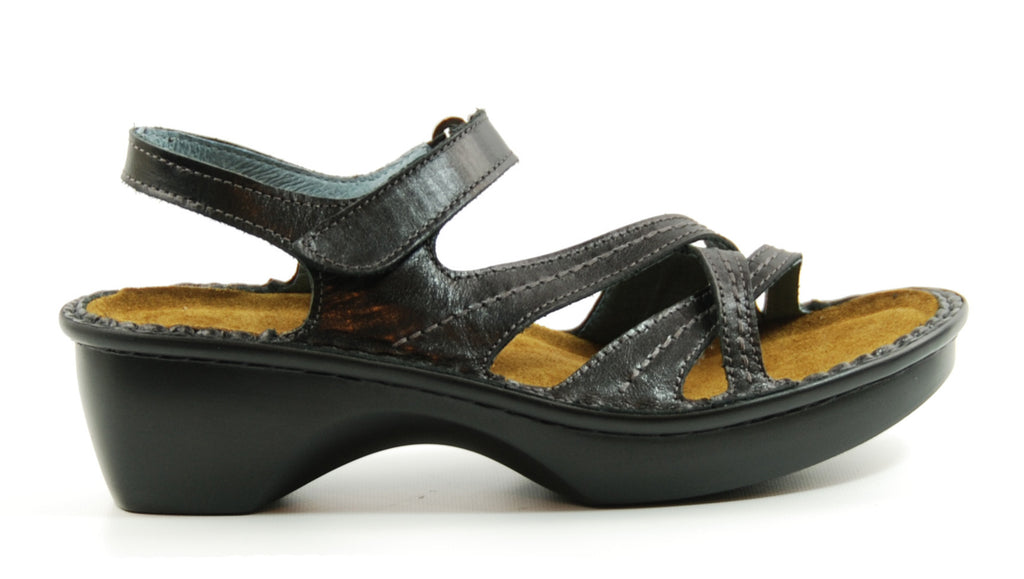 Naot Paris Black Leather Sandal