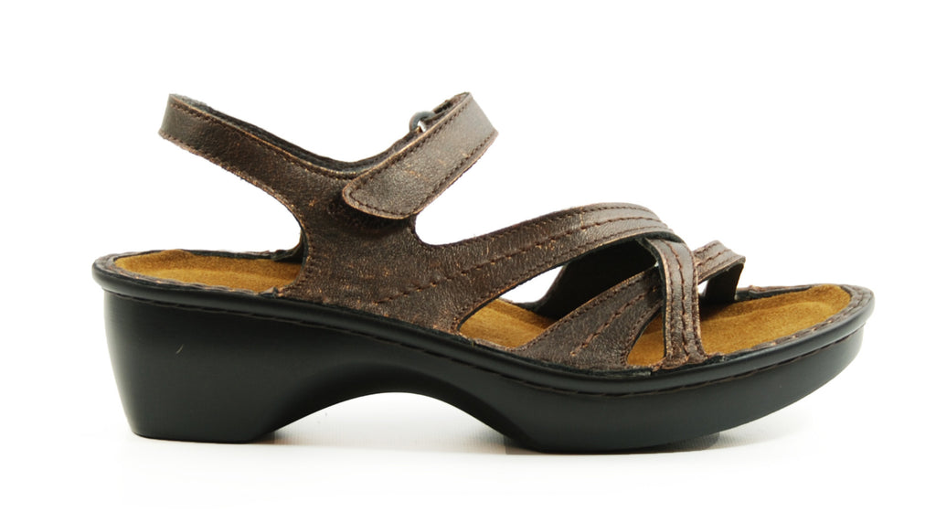 Naot Paris Burnt Copper Leather Sandal