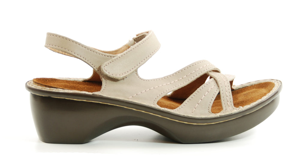 Naot Paris Linen Leather Sandal