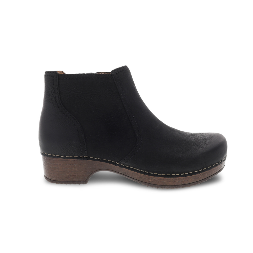 Dansko Barbara Black Burnished Nubuck Boot