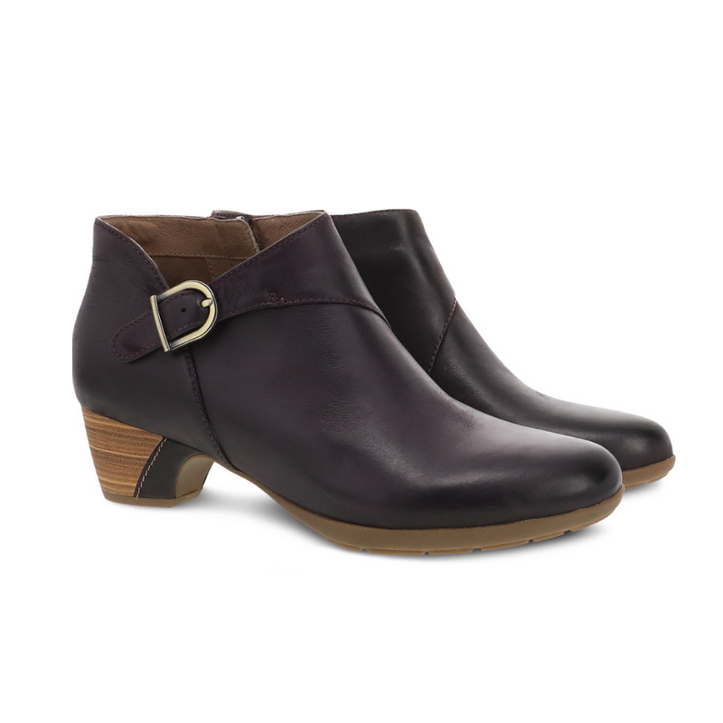Dansko Darbie Fig Burnished Nubuck Ankle Boot