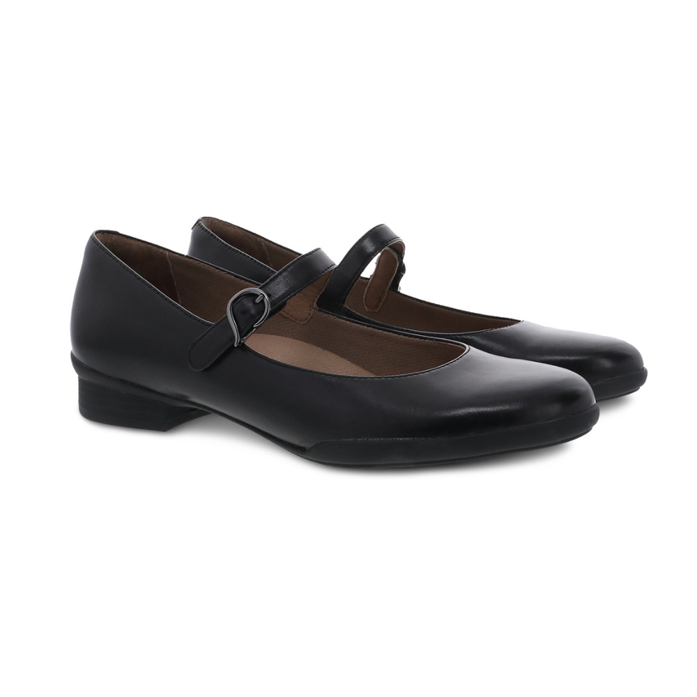 Dansko Kaelyn Black Aniline Calf Mary Jane