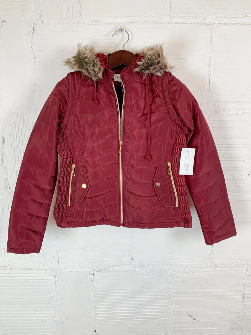 Emmie Red Faux Fur Jacket