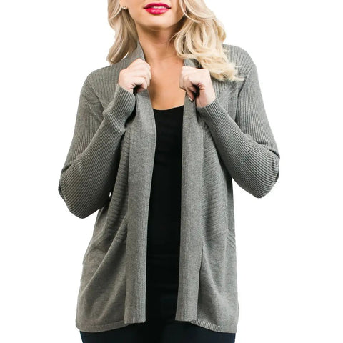 Liana Dark Gray Cardigan