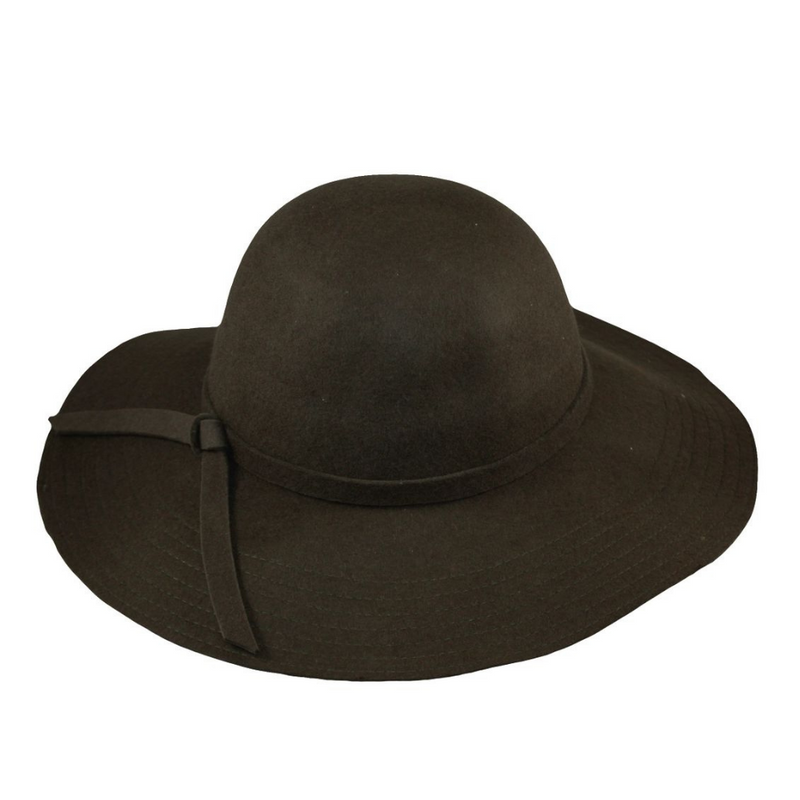 Hat Stack Brown Wool Brim Hat