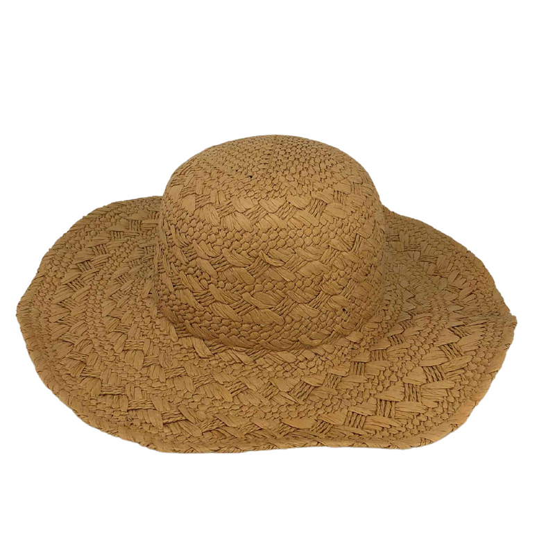 Hat Stack Brown Woven Hat