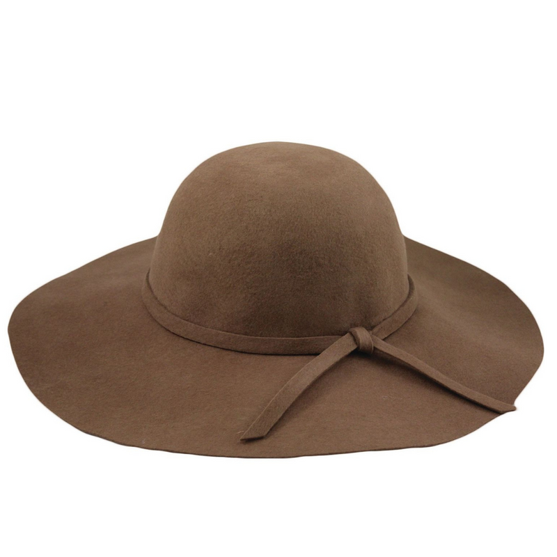 Hat Stack Mocha Wool Brim Hat