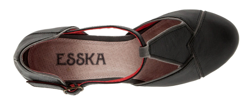 Esska Hype Black T-Strap Pump