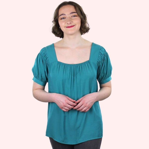 Leah Turquoise Top