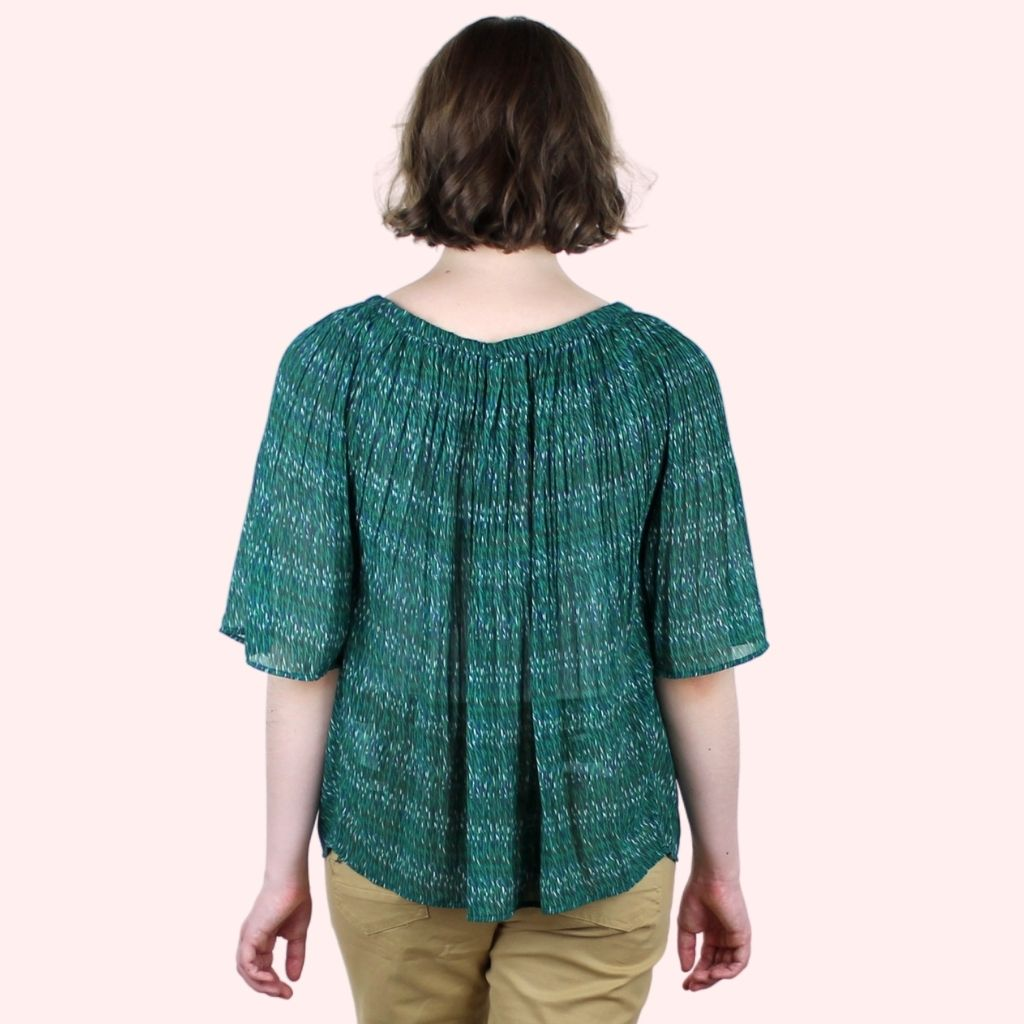 Charlotte Green Blouse