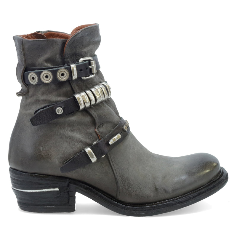 AS 98 Ives Smoke+Smoke+Nero Ankle Boot